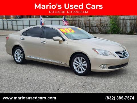 2010 Lexus ES 350 for sale at Mario's Used Cars - Pasadena Location in Pasadena TX