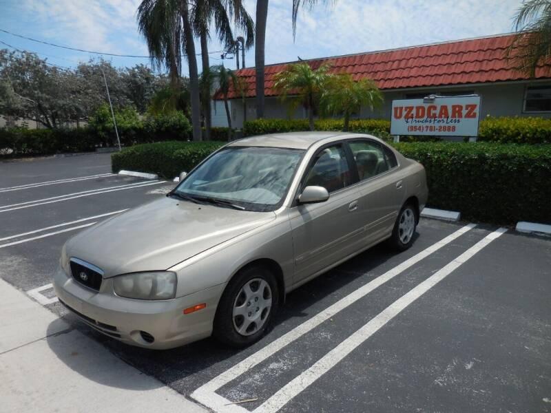 2002 Hyundai Elantra for sale at Uzdcarz Inc. in Pompano Beach FL