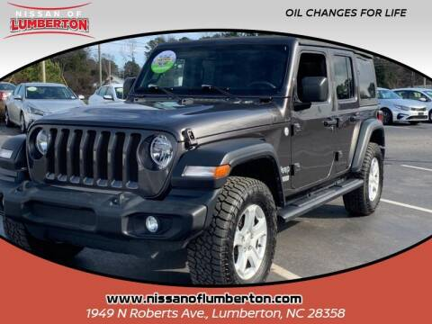 2019 Jeep Wrangler Unlimited for sale at Nissan of Lumberton in Lumberton NC