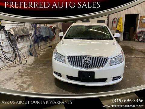 2010 Buick LaCrosse for sale at PREFERRED AUTO SALES in Lockridge IA