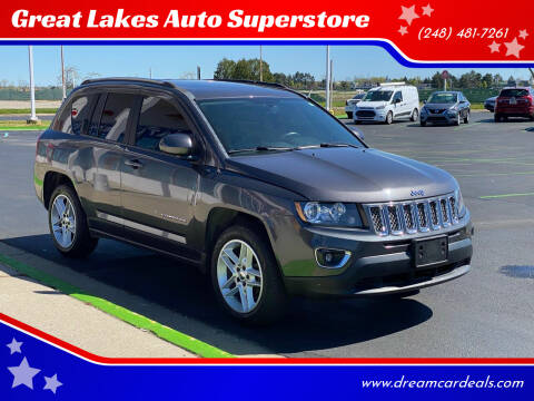 2015 Jeep Compass for sale at Great Lakes Auto Superstore in Waterford Township MI