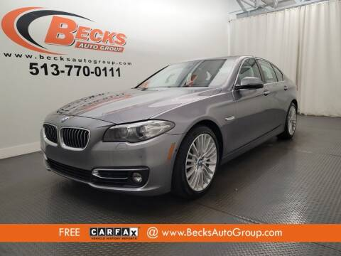 2016 BMW 5 Series for sale at Becks Auto Group in Mason OH