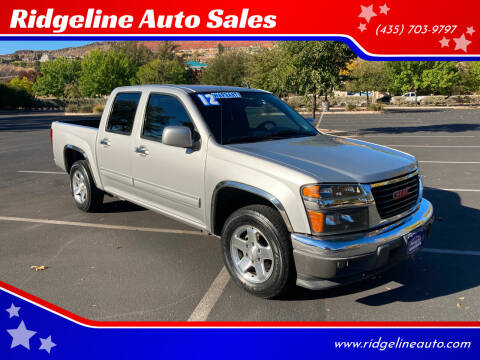 2012 GMC Canyon for sale at Ridgeline Auto Sales in Saint George UT