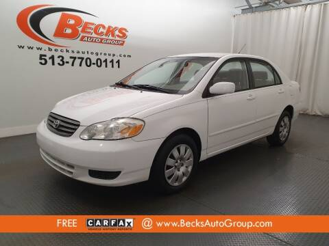 2004 Toyota Corolla for sale at Becks Auto Group in Mason OH