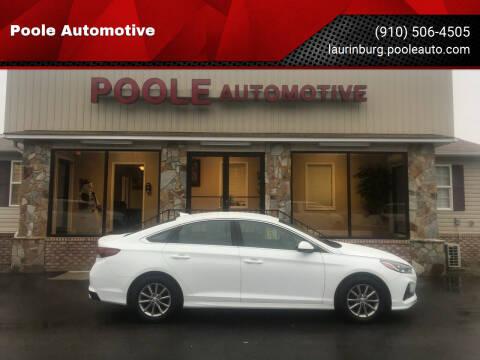 2018 Hyundai Sonata for sale at Poole Automotive in Laurinburg NC