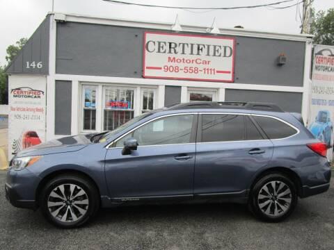 2015 Subaru Outback for sale at CERTIFIED MOTORCAR LLC in Roselle Park NJ
