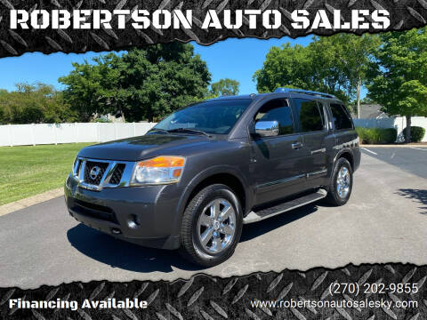 2010 Nissan Armada for sale at ROBERTSON AUTO SALES in Bowling Green KY