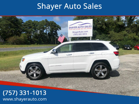 2014 Jeep Grand Cherokee for sale at Shayer Auto Sales in Cape Charles VA
