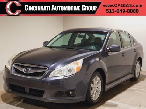 2010 Subaru Legacy for sale at Cincinnati Automotive Group in Lebanon OH