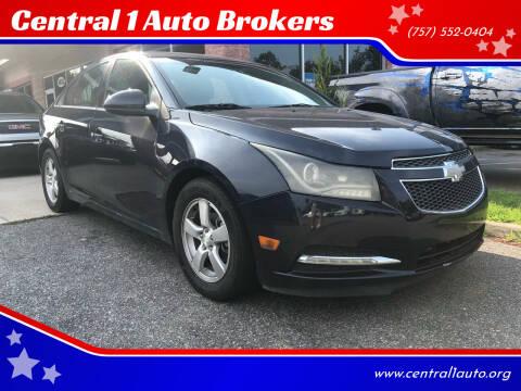 2014 Chevrolet Cruze for sale at Central 1 Auto Brokers in Virginia Beach VA