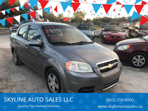 2010 Chevrolet Aveo for sale at SKYLINE AUTO SALES LLC in Winter Haven FL