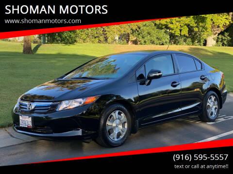 2012 Honda Civic for sale at SHOMAN MOTORS in Davis CA