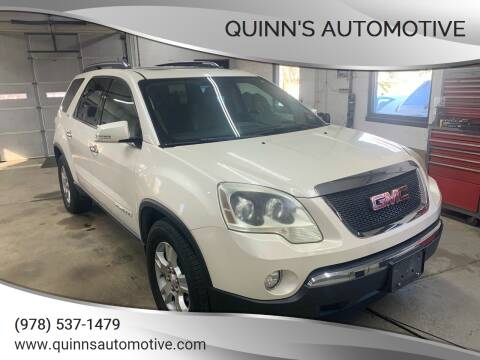 2007 GMC Acadia for sale at QUINN'S AUTOMOTIVE in Leominster MA