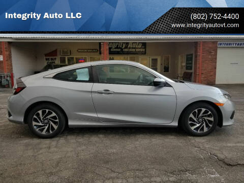 2017 Honda Civic for sale at Integrity Auto LLC - Integrity Auto 2.0 in St. Albans VT