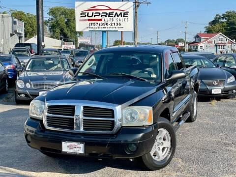 2007 Dodge Dakota for sale at Supreme Auto Sales in Chesapeake VA