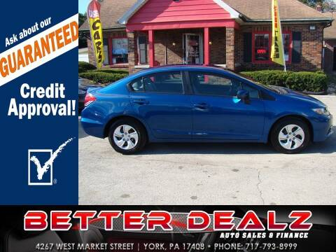2015 Honda Civic for sale at Better Dealz Auto Sales & Finance in York PA