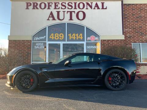 2016 Chevrolet Corvette for sale at Professional Auto Sales & Service in Fort Wayne IN