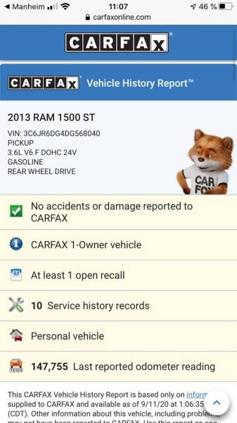 2013 RAM Ram Pickup 1500 4x2 Tradesman 2dr Regular Cab 8 ft. LB Pickup - Van Nuys CA