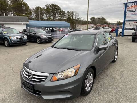 2012 Honda Accord for sale at U FIRST AUTO SALES LLC in East Wareham MA