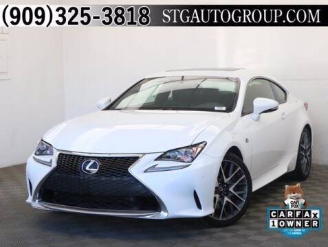 2016 Lexus RC 200t for sale at STG Auto Group in Montclair CA