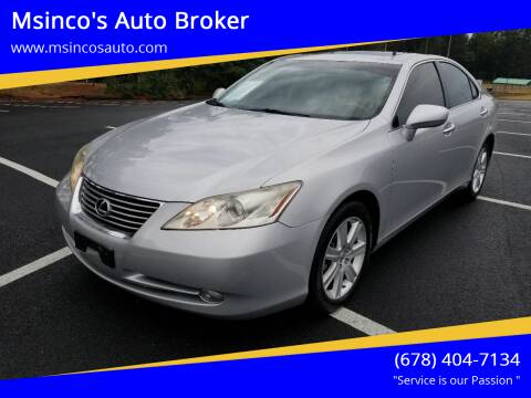 2009 Lexus ES 350 for sale at Msinco's Auto Broker in Snellville GA