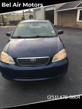 2005 Toyota Corolla for sale at Bel Air Motors in Mobile AL