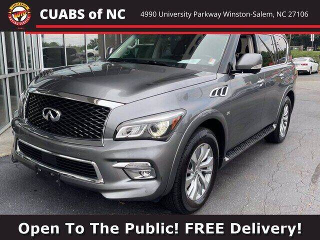 2017 Infiniti QX80 for sale at Summit Credit Union Auto Buying Service in Winston Salem NC