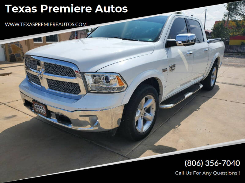 2013 RAM Ram Pickup 1500 for sale at Texas Premiere Autos in Amarillo TX
