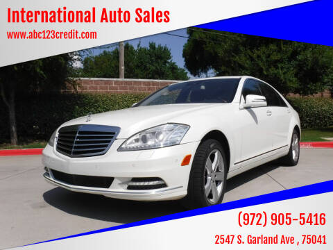 2010 Mercedes-Benz S-Class for sale at International Auto Sales in Garland TX