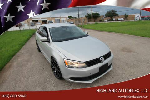 2012 Volkswagen Jetta for sale at Highland Autoplex, LLC in Dallas TX