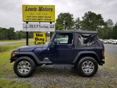 2006 Jeep Wrangler for sale at Lewis Motors LLC in Deridder LA