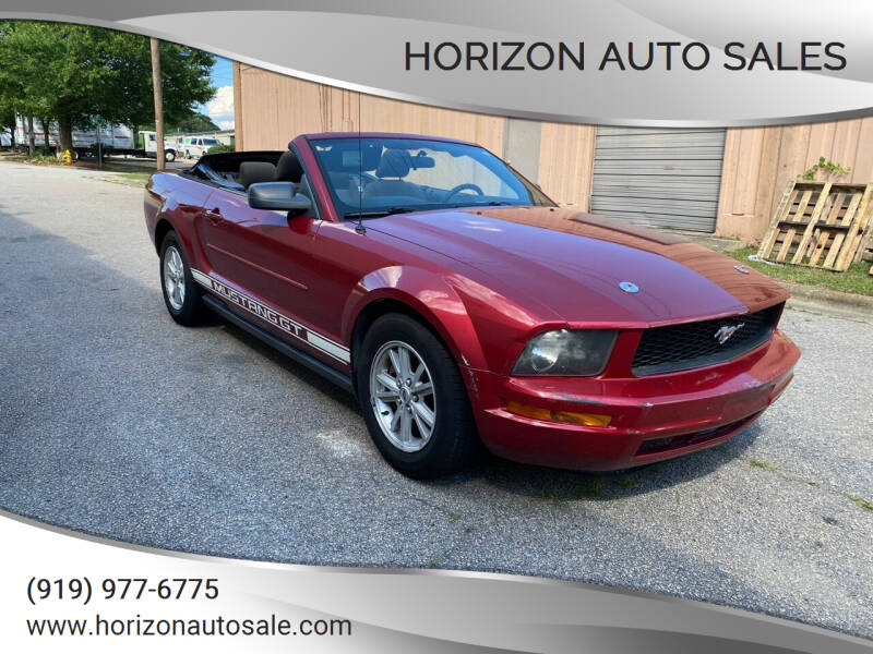 2007 Ford Mustang for sale at Horizon Auto Sales in Raleigh NC
