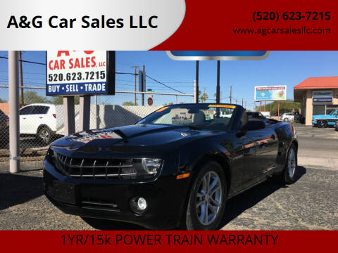 2013 Chevrolet Camaro for sale at A&G Car Sales  LLC in Tucson AZ