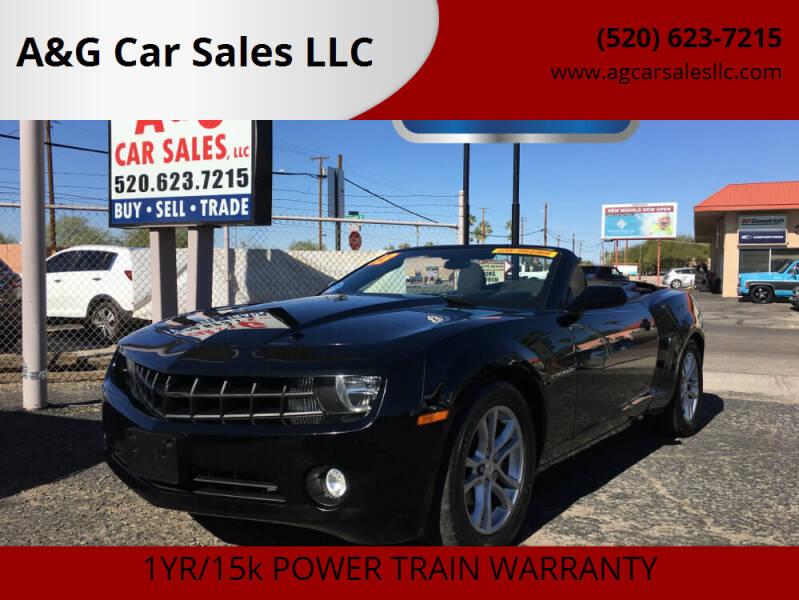 2013 Chevrolet Camaro for sale at A&G Car Sales  LLC in Tucson AZ