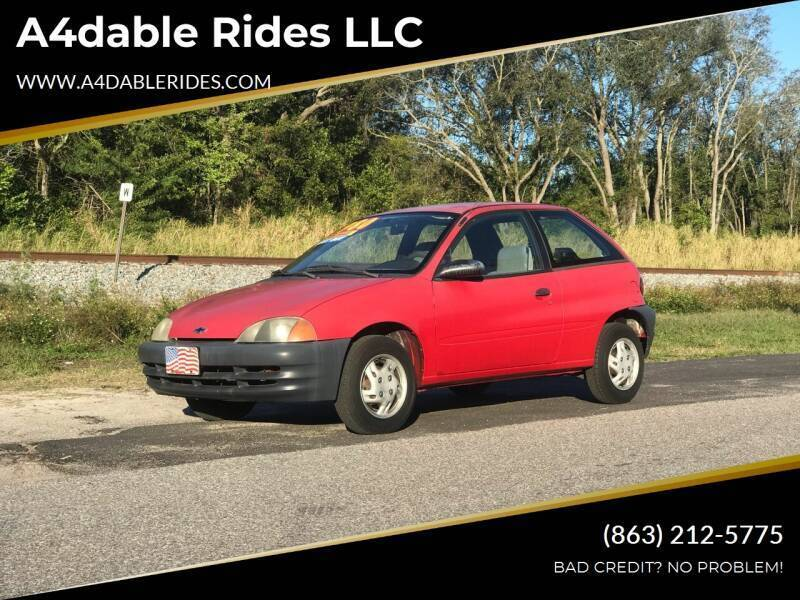 1998 Chevrolet Metro for sale at A4dable Rides LLC in Haines City FL