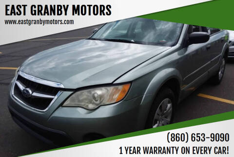 2009 Subaru Outback for sale at EAST GRANBY MOTORS in East Granby CT