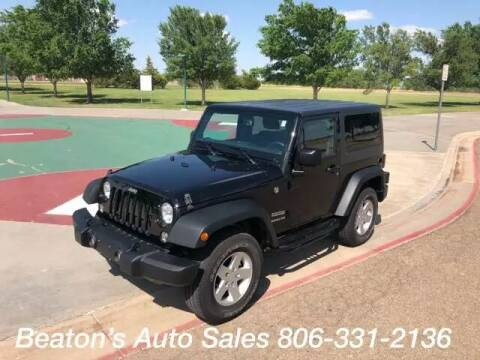 2016 Jeep Wrangler for sale at Beaton's Auto Sales in Amarillo TX