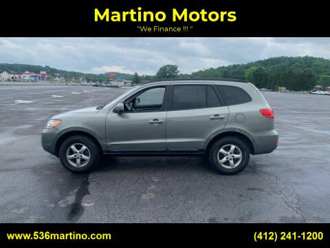 2008 Hyundai Santa Fe for sale at Martino Motors in Pittsburgh PA