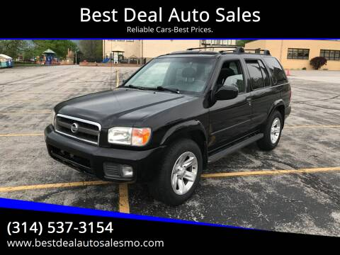 2002 Nissan Pathfinder for sale at Best Deal Auto Sales in Saint Charles MO