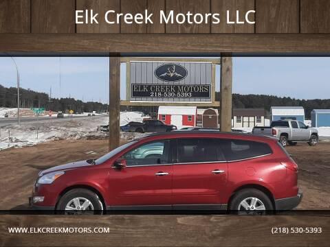 2012 Chevrolet Traverse for sale at Elk Creek Motors LLC in Park Rapids MN