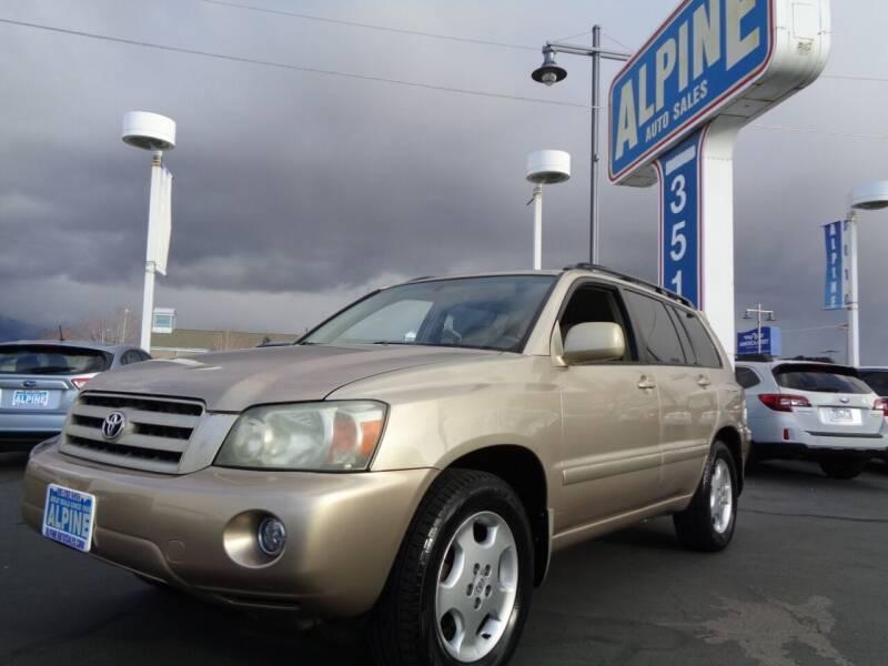 2004 Toyota Highlander for sale at Alpine Auto Sales in Salt Lake City UT