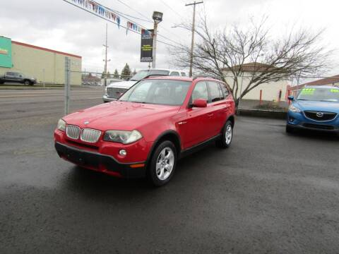 2007 BMW X3 for sale at ARISTA CAR COMPANY LLC in Portland OR