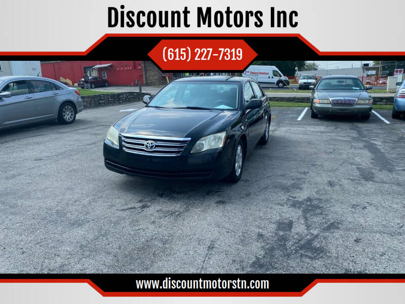 2006 Toyota Avalon for sale at Discount Motors Inc in Nashville TN