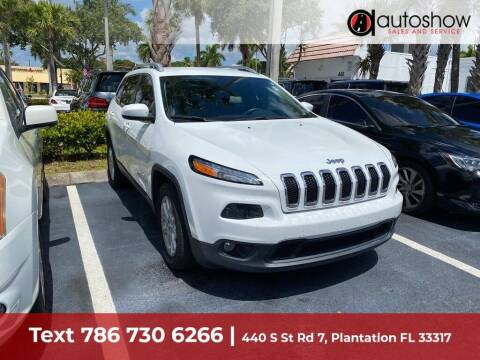 2016 Jeep Cherokee for sale at AUTOSHOW SALES & SERVICE in Plantation FL