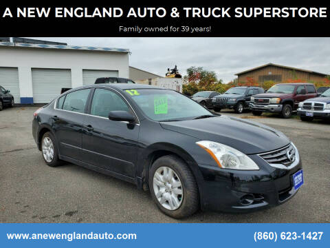 2012 Nissan Altima for sale at A NEW ENGLAND AUTO & TRUCK SUPERSTORE in East Windsor CT