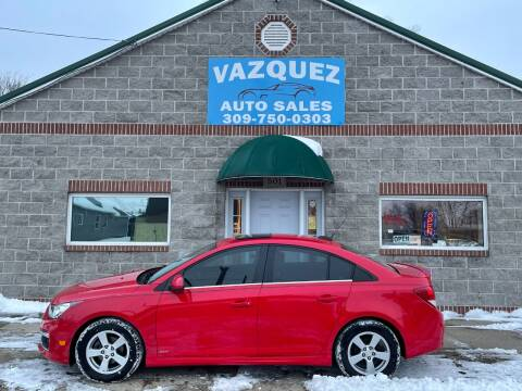 2016 Chevrolet Cruze Limited for sale at VAZQUEZ AUTO SALES in Bloomington IL