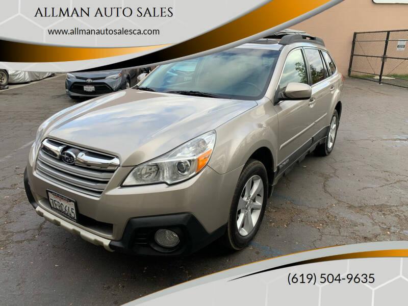 2014 Subaru Outback for sale at ALLMAN AUTO SALES in San Diego CA