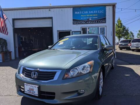 2008 Honda Accord for sale at M AND S CAR SALES LLC in Independence OR