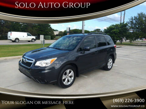 2015 Subaru Forester for sale at Solo Auto Group in Mckinney TX