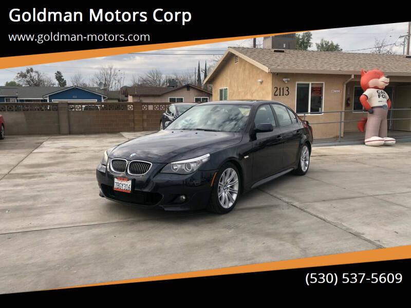 2010 BMW 5 Series for sale at Goldman Motors Corp in Stockton CA